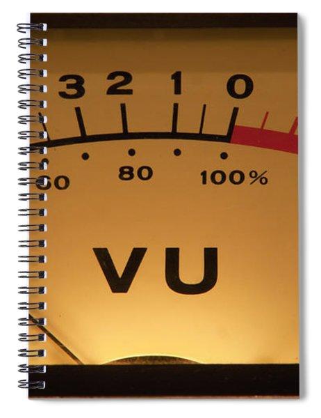 Vu Meter Illuminated Spiral Notebook
