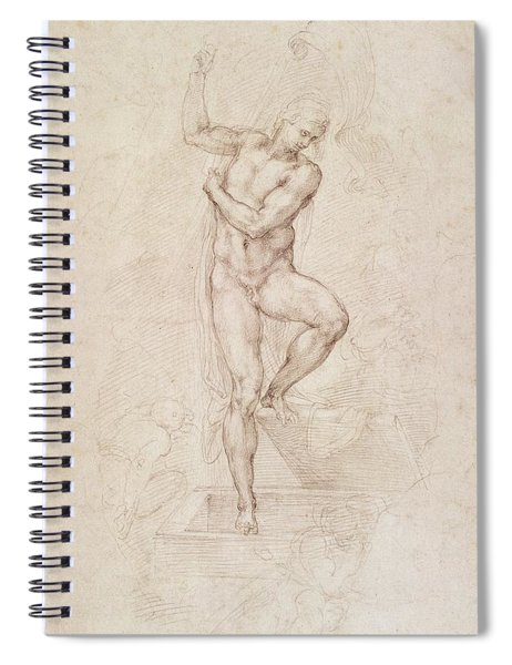 W53r The Risen Christ Study For The Fresco Of The Last Judgement In The Sistine Chapel Vatican Spiral Notebook