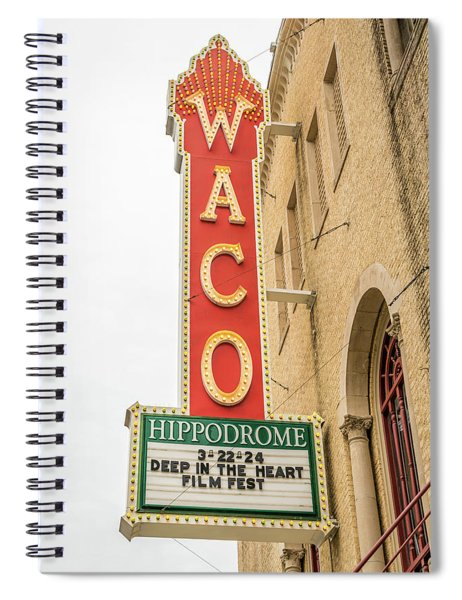 Waco Movie Theater With Sign, Waco Spiral Notebook