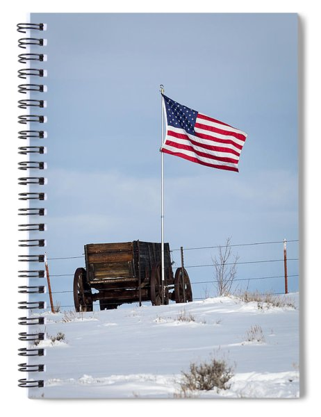 Wagon And Flag Spiral Notebook