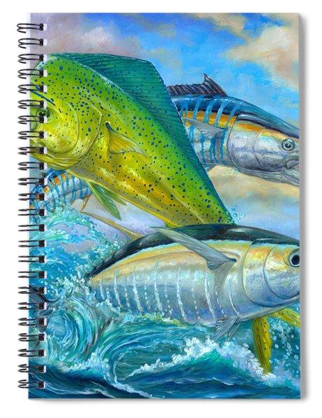 Wahoo Mahi Mahi And Tuna Spiral Notebook