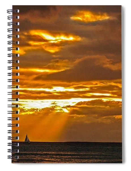 Waikiki Sun Set Spiral Notebook