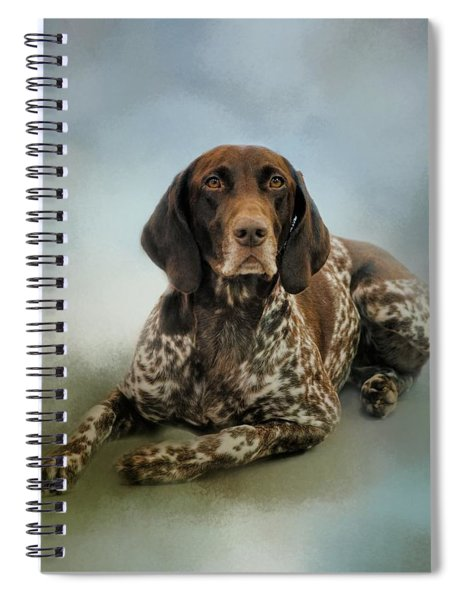 Waiting For A Cue - German Shorthaired Pointer Spiral Notebook