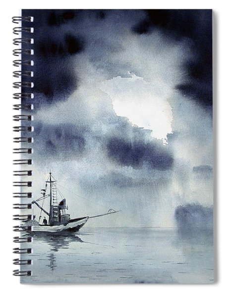 Waiting Out The Squall Spiral Notebook