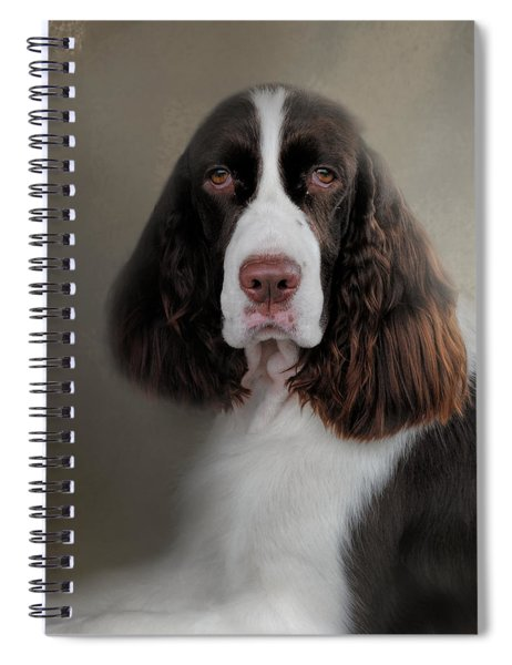 Waiting Patiently - English Springer Spaniel Spiral Notebook