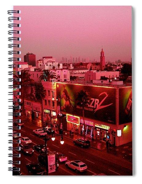 Walk Of Fame Hollywood At Pink Sunset Spiral Notebook