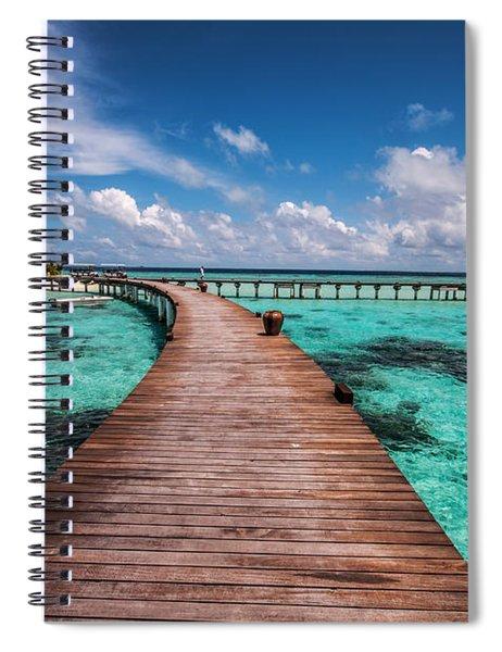 Walk Over The Water Spiral Notebook