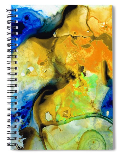 Walking On Sunshine - Abstract Painting By Sharon Cummings Spiral Notebook