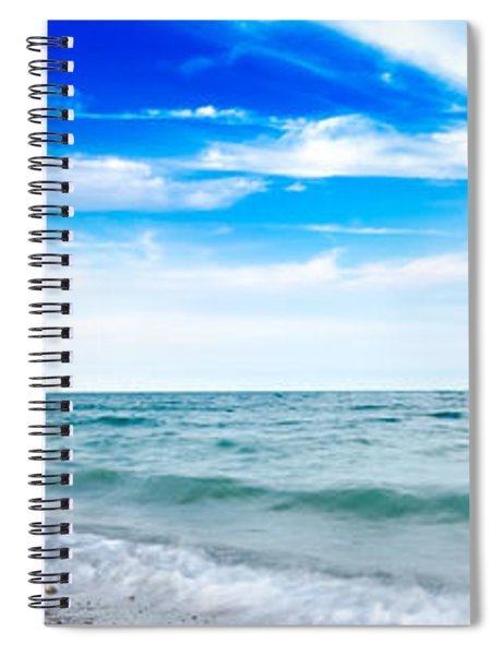 Walking The Shore - Extended Spiral Notebook by Steven Santamour