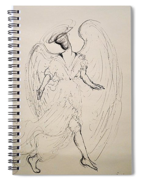Walking With An Angel Spiral Notebook