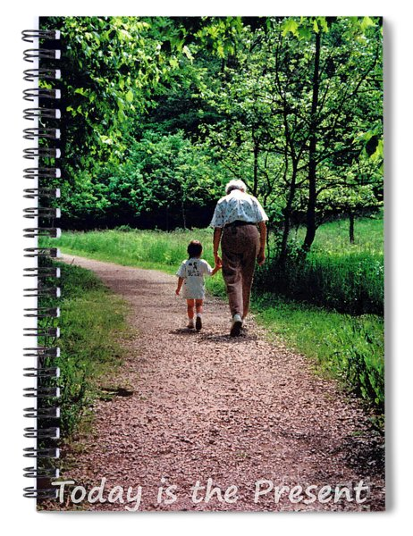 Walking With Grandma Spiral Notebook