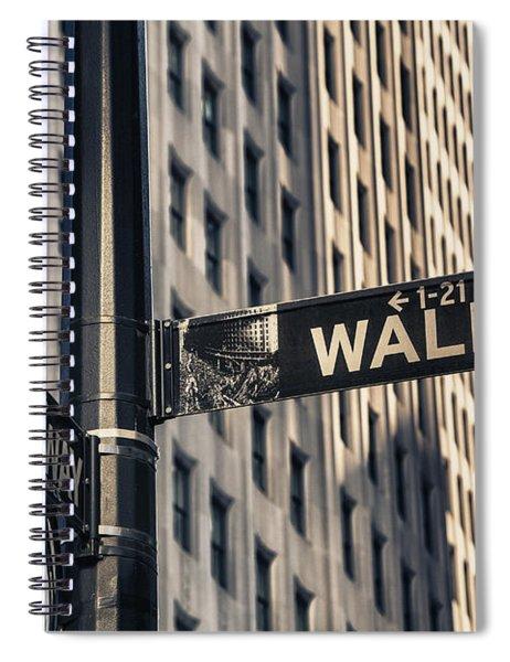 Wall Street Sign Spiral Notebook
