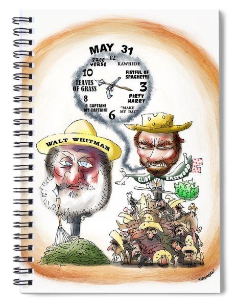 Walt Whitman Meets Clint Eastwood Spiral Notebook