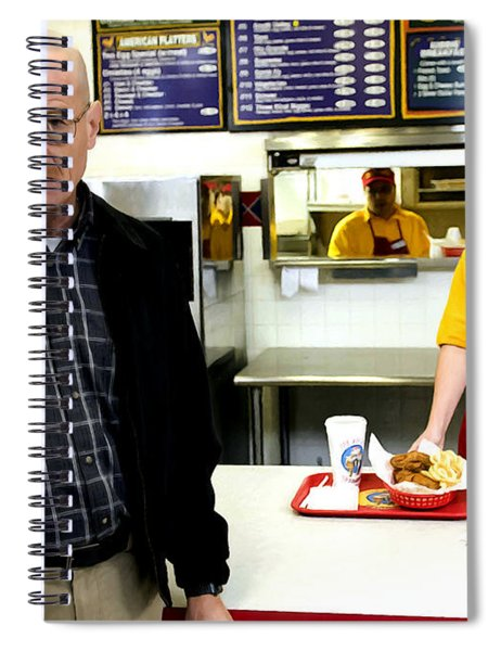 Walter White In Pollos Hermanos @ Breaking Bad Spiral Notebook