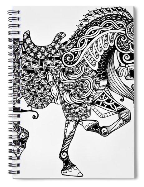 War Horse - Zentangle Spiral Notebook