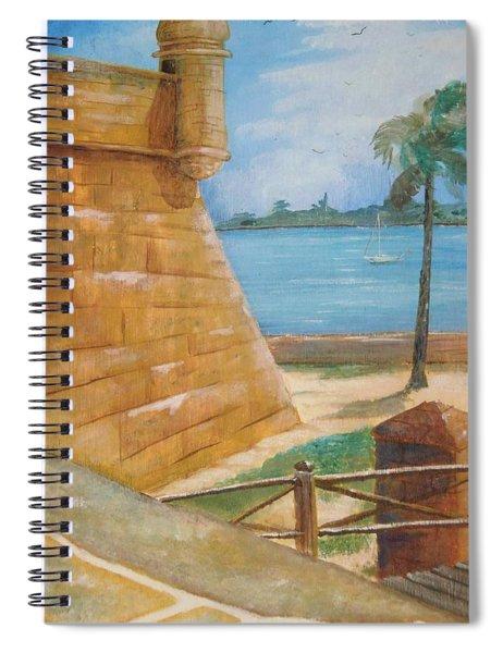 Warm Days In St. Augustine Spiral Notebook