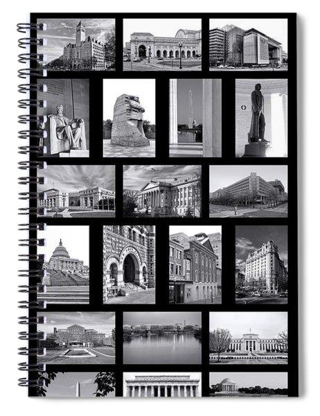 Washington Dc Poster Spiral Notebook