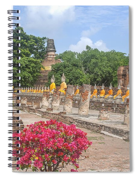 Wat Phra Chao Phya-thai Buddha Images And Ruined Chedi Dtha004 Spiral Notebook