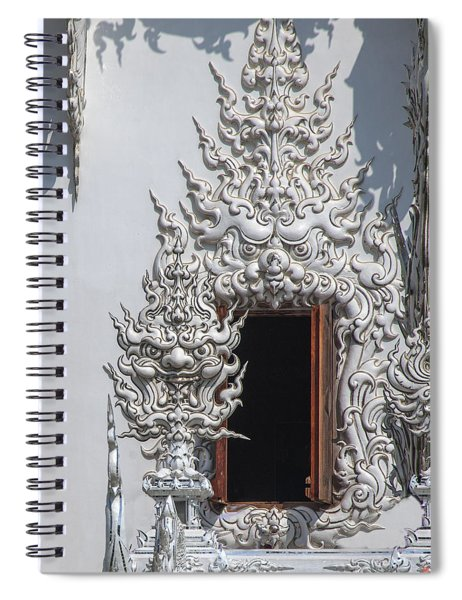 Wat Rong Khun Ubosot Window Dthcr0042 Spiral Notebook