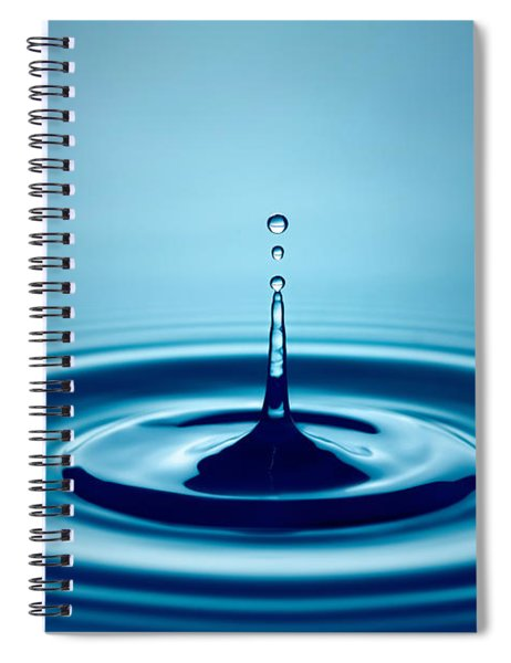 Water Drop Splash Spiral Notebook