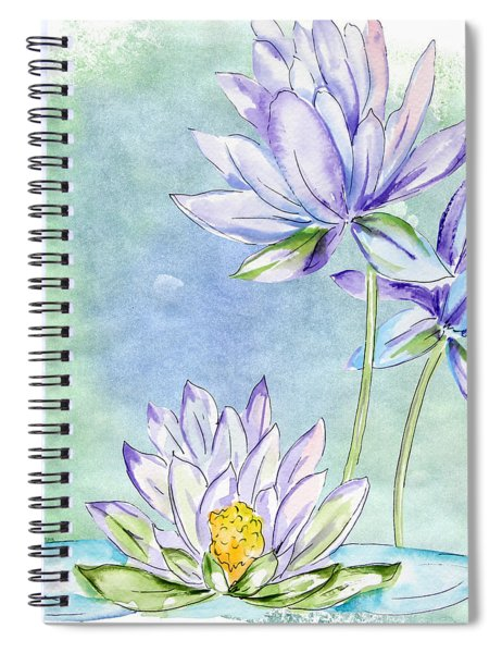Water Lilly Spiral Notebook