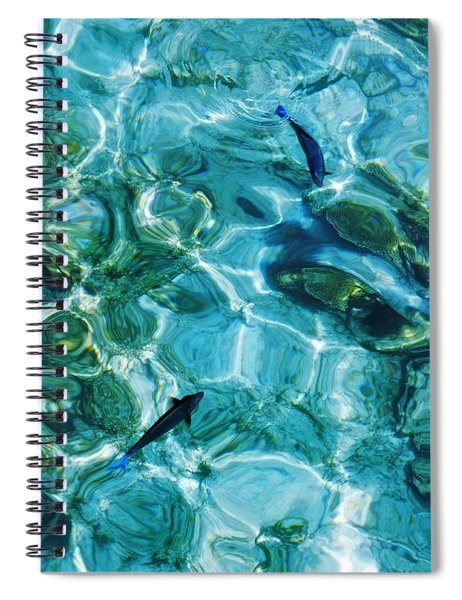 Water Meditation II. Five Elements. Healing With Feng Shui And Color Therapy In Interior Design Spiral Notebook