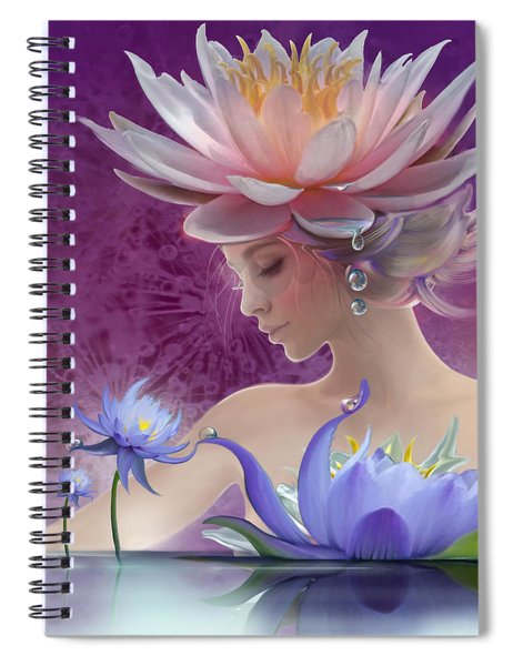 Water Of Life - In Violet Spiral Notebook