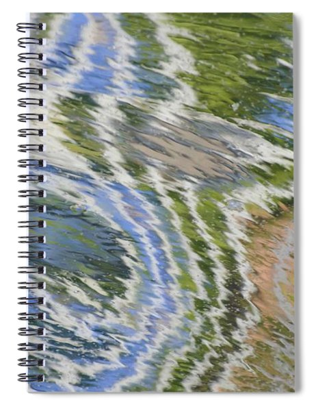 Water Ripples In Blue And Green Spiral Notebook