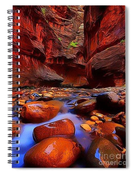 Water Runs Through It Spiral Notebook
