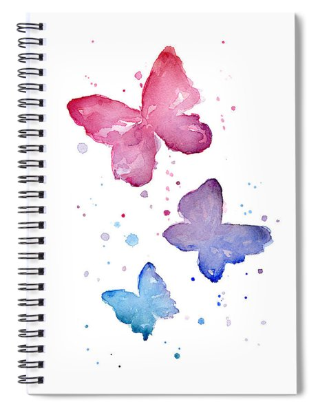 Watercolor Butterflies Spiral Notebook