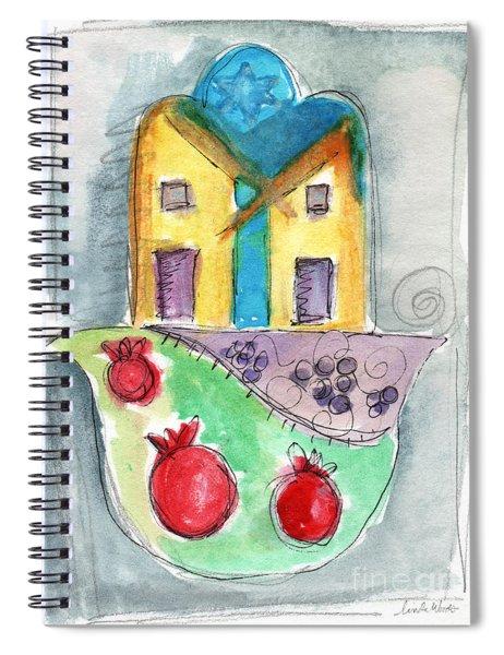 Watercolor Hamsa  Spiral Notebook