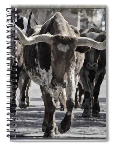 Watercolor Longhorns Spiral Notebook