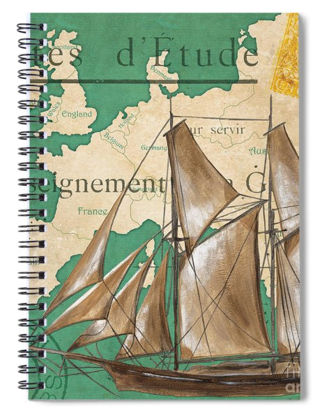 Watercolor Map 1 Spiral Notebook