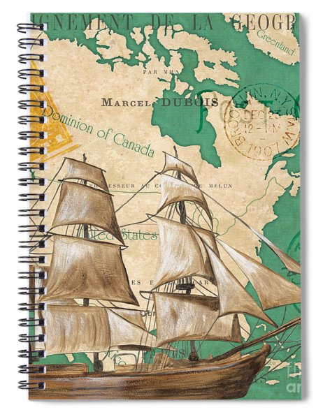Watercolor Map 2 Spiral Notebook by Debbie DeWitt