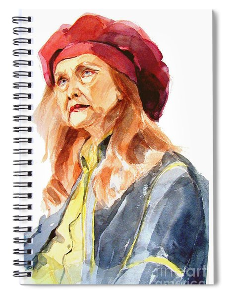 Watercolor Portrait Of An Old Lady Spiral Notebook