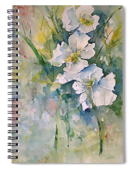 Watercolor Wild Flowers Spiral Notebook