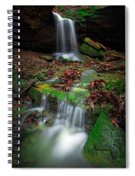 Frankfort Mineral Springs Waterfall  Spiral Notebook
