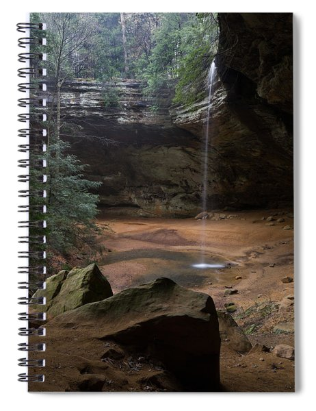 Waterfall At Ash Cave Spiral Notebook
