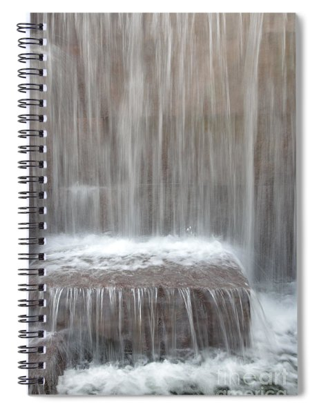 Waterfall At The Fdr Memorial In Washington Dc Spiral Notebook