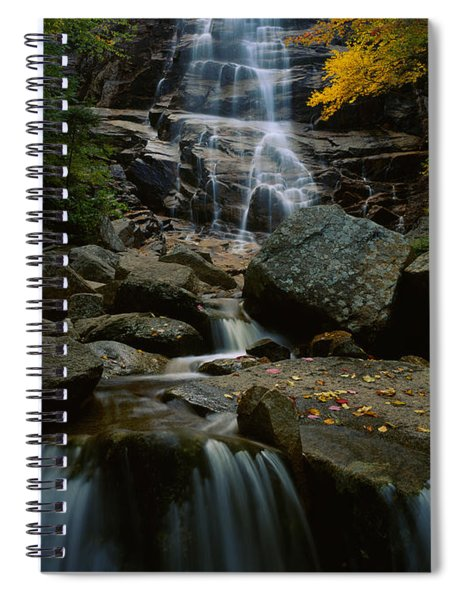 Waterfall In A Forest, Arethusa Falls Spiral Notebook
