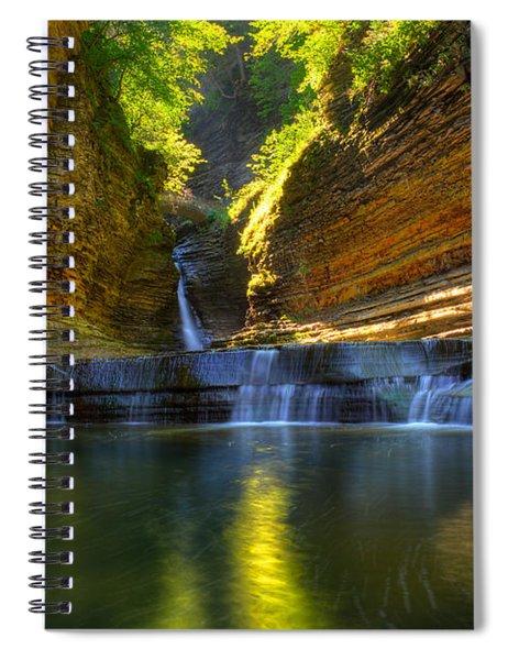 Waterfalls At Watkins Glen State Park Spiral Notebook