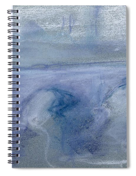 Waterloo Bridge, C.1900 Pastel On Paper Spiral Notebook