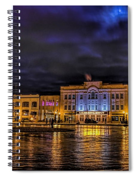 Wausau Ice Rink After Dark Spiral Notebook