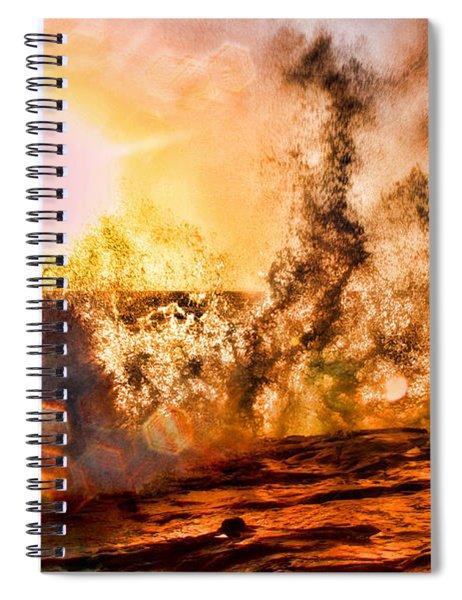 Wave Crasher La Jolla By Diana Sainz Spiral Notebook