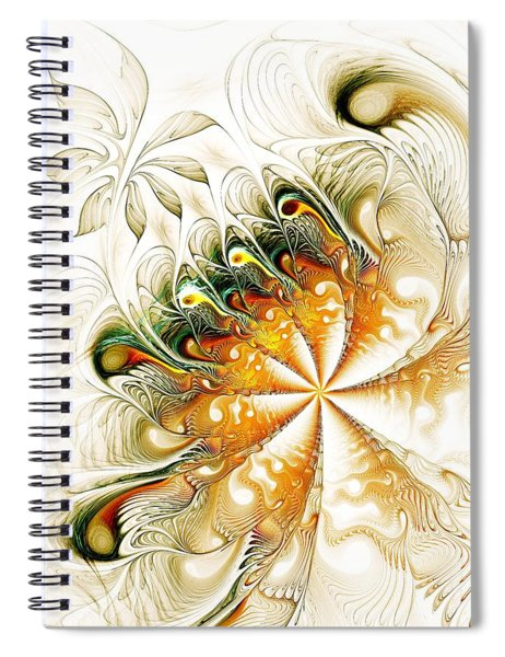 Waves And Pearls Spiral Notebook