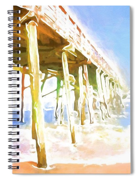 Waves By The Pier Spiral Notebook