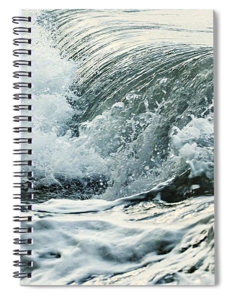 Waves In Stormy Ocean Spiral Notebook