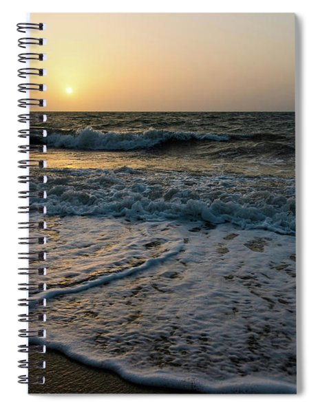 Waves On The Beach At Sunrise Spiral Notebook