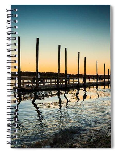 Wavy Sunset Kings Park New York Spiral Notebook