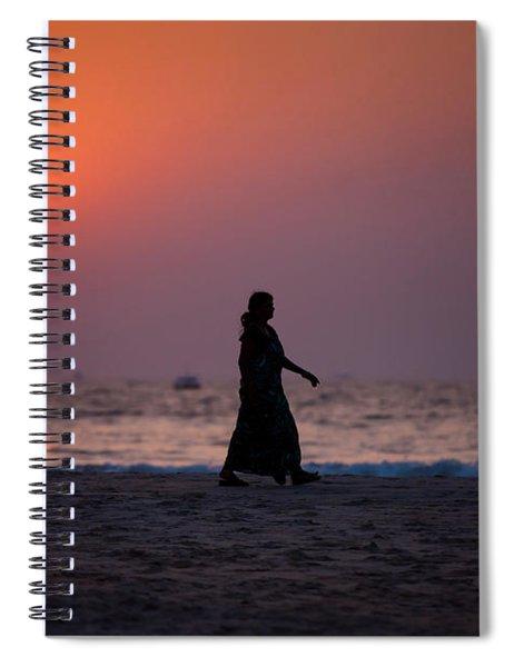 Way Home. Goan Sunset. India Spiral Notebook